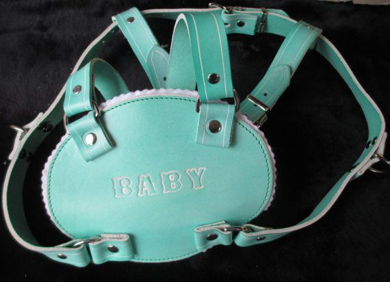 Ab Dl Leather Adult Baby Retro Walking Chest Harness