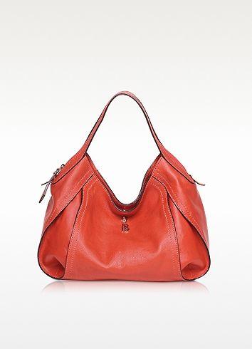 7f8b202a6b3a Copacabana Medium Red Leather Shoulder Bag - Francesco Biasia
