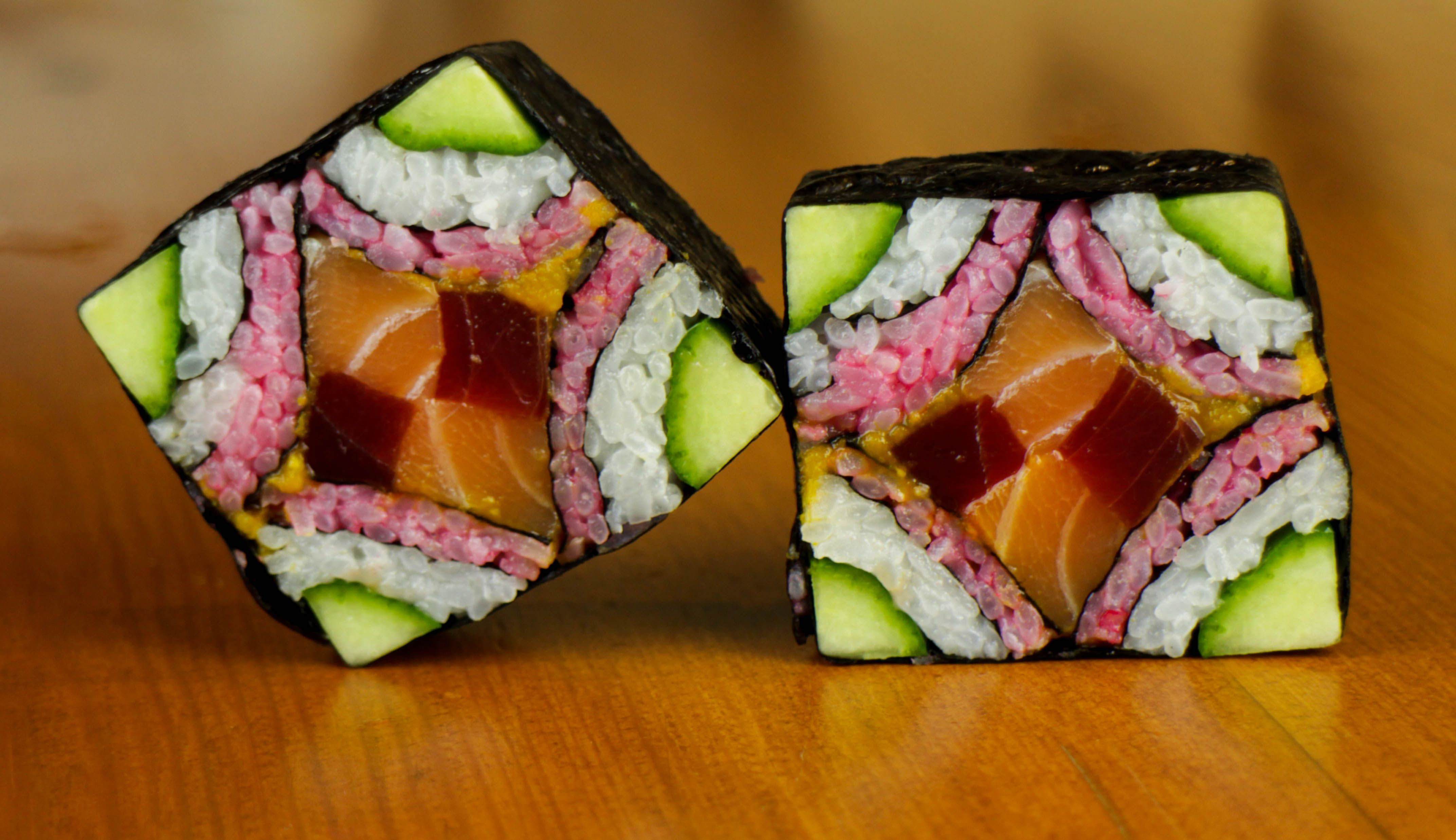 mosaic sushi roll - japanese food