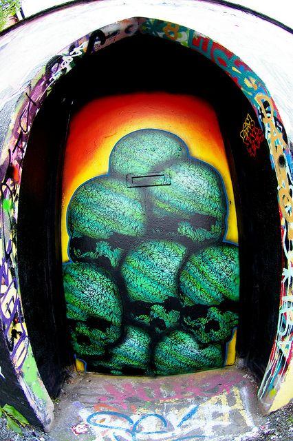 Skull Door (Cork, Ireland) by psychonautes, via Flickr