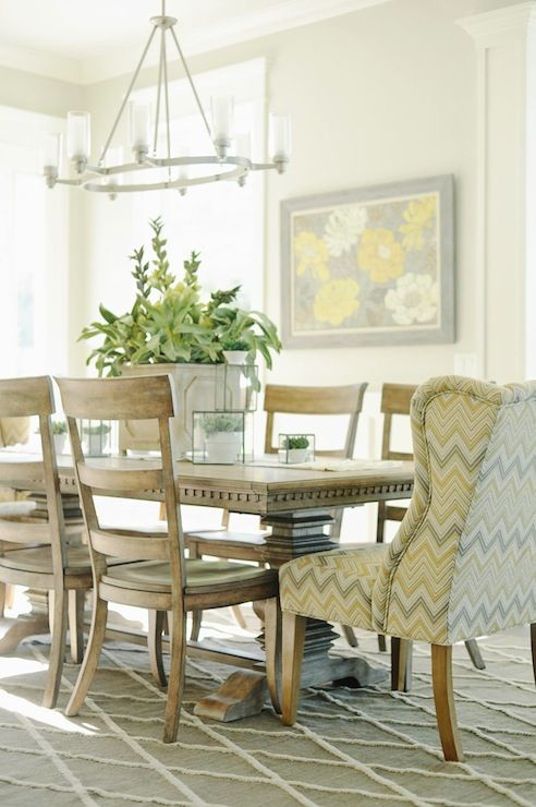 Wingbacks In The Dining Room Dining Chair Design Circular Dining Room Dining Room Interiors