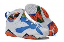 wholesale dealer 07bd7 04515 2015 Air Jordan 7 White Blue Black Orange