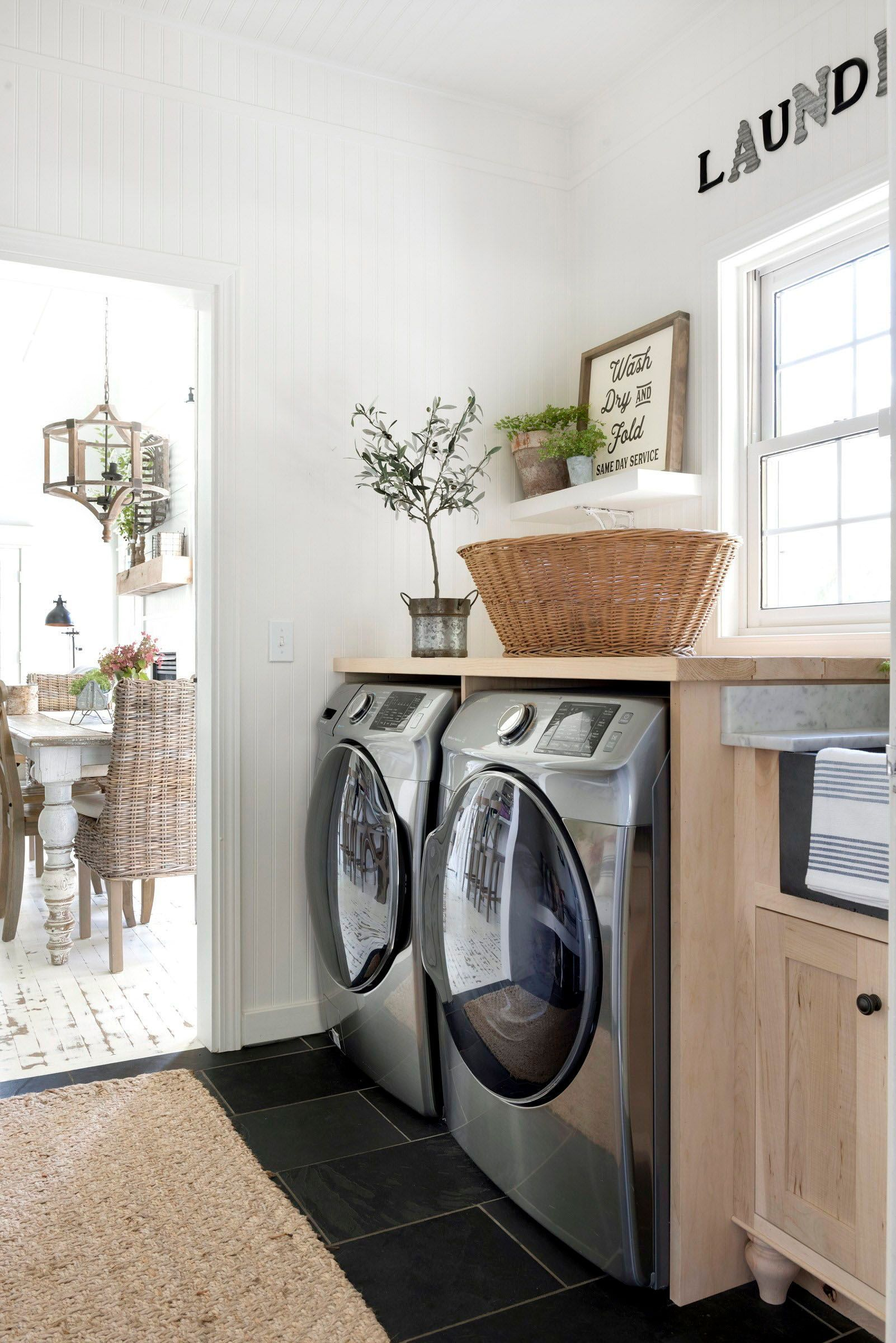 Dreamiest Details In This Modern Farmhouse Style Home Tour In Minnesota Laundry Room Design Laundry Room Room Design