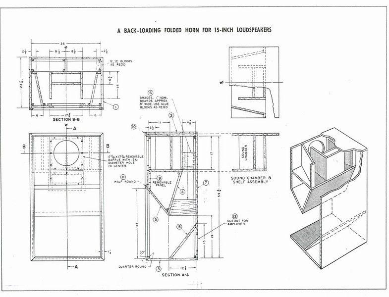 Wooden Speaker Cabinets Plans DIY blueprints Speaker