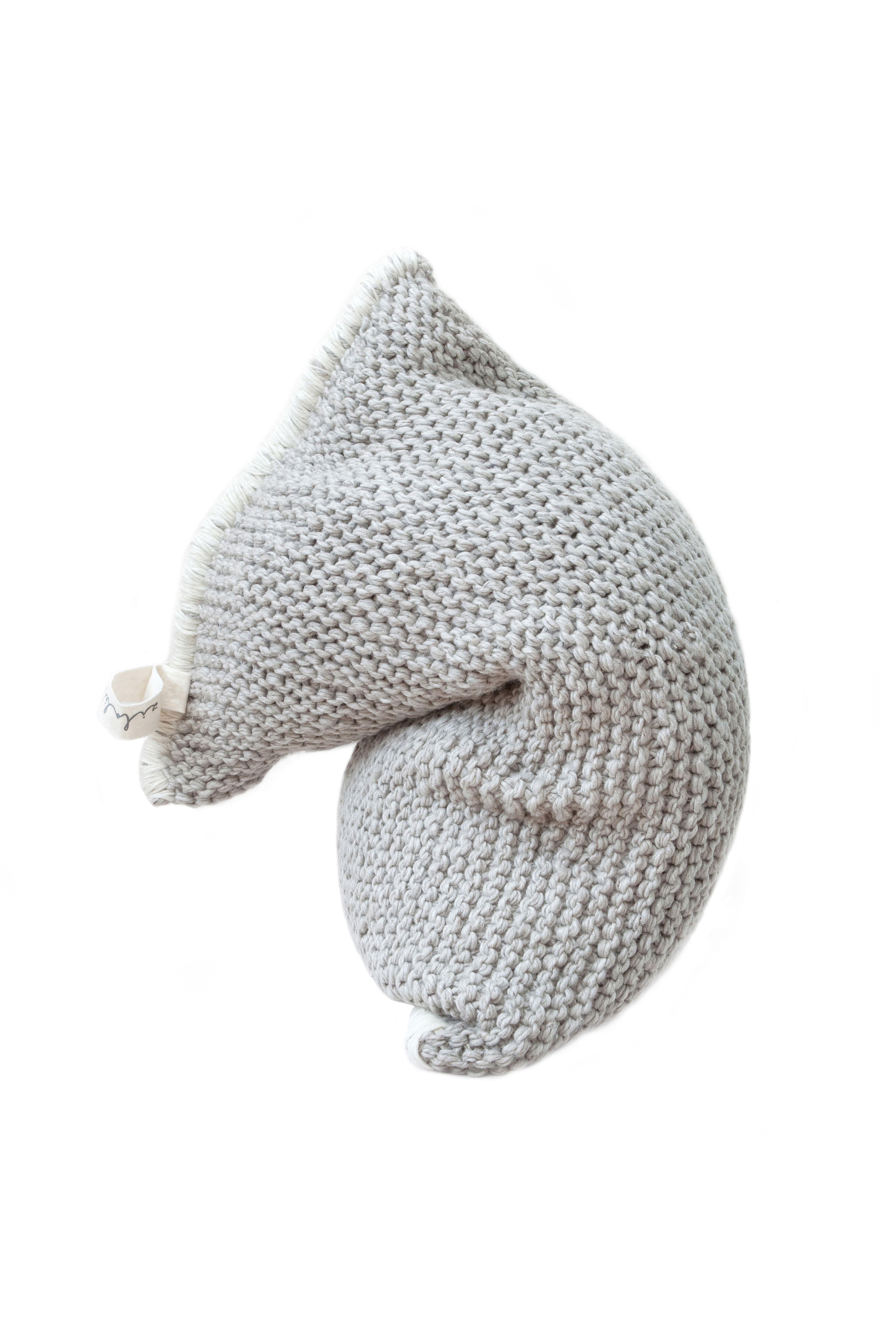 Big Beanie Zitzak.Nest Zilalila Grey Beanbag Nest Knitted Beanbag Gebreide Zitzak