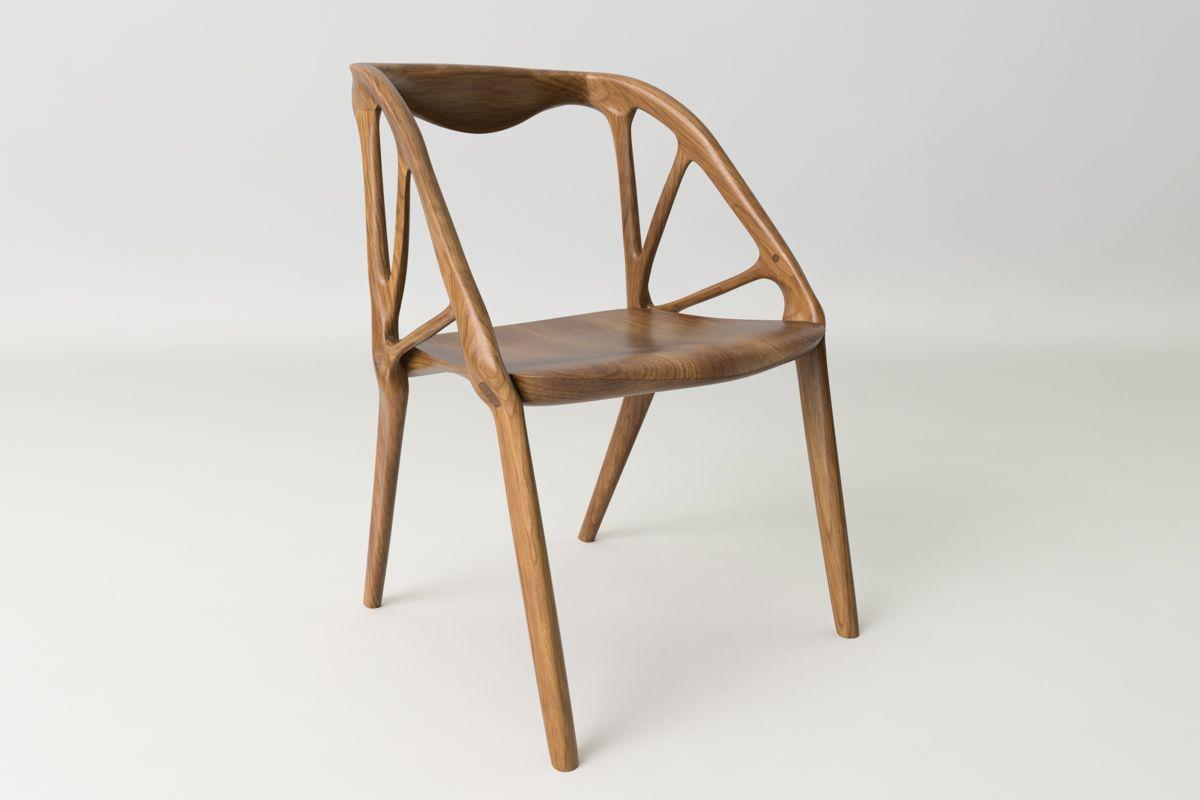 Produktdesign Möbel a chair created through generative design furniture und möbel