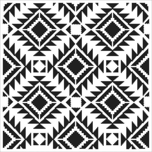 Tcw Crafters Workshop 6 in Stencil Mask Template Mini Rug Aztec ...