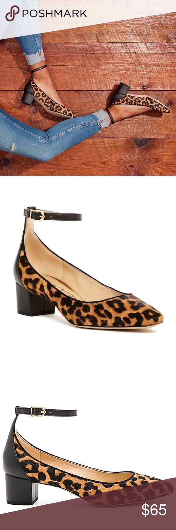 742783921 NWT Sam Edelman Leopard Lola Pump Make a statement in the perfect statement  sandal.