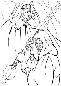 Adult Coloring Pages Darth Maul And Darth Sidious Crafts