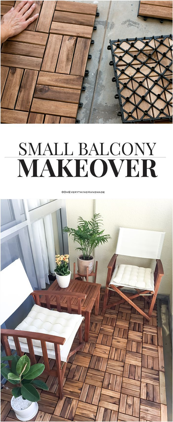 Small Balcony Makeover  DIY Crafts and Projects Ideas  Handmade