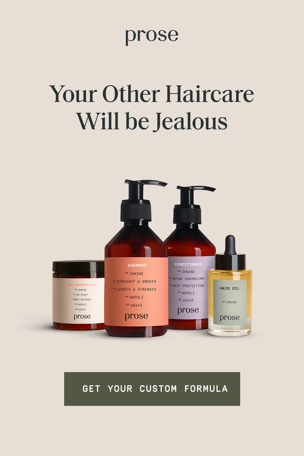 Prose custom hair care products are made to order based on