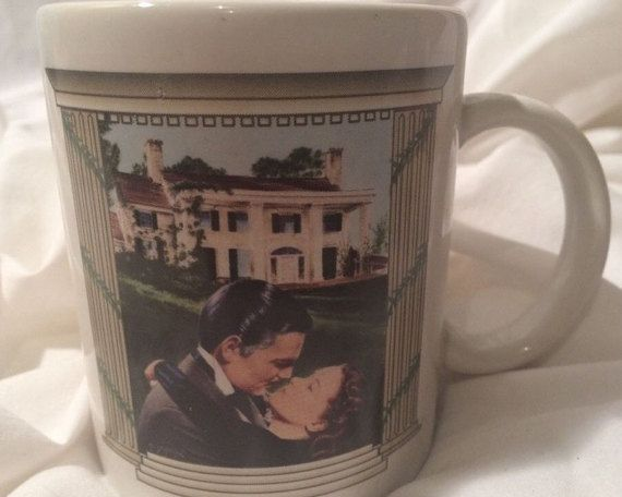 Gone With the Wind Series THE KISS Cast Mug by UrbanVintageChic