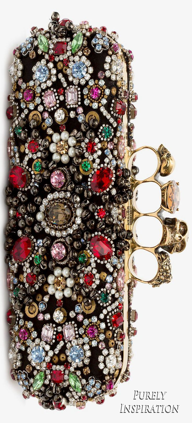 Knuckle embellished box clutch Alexander McQueen 5pG0mY6Us