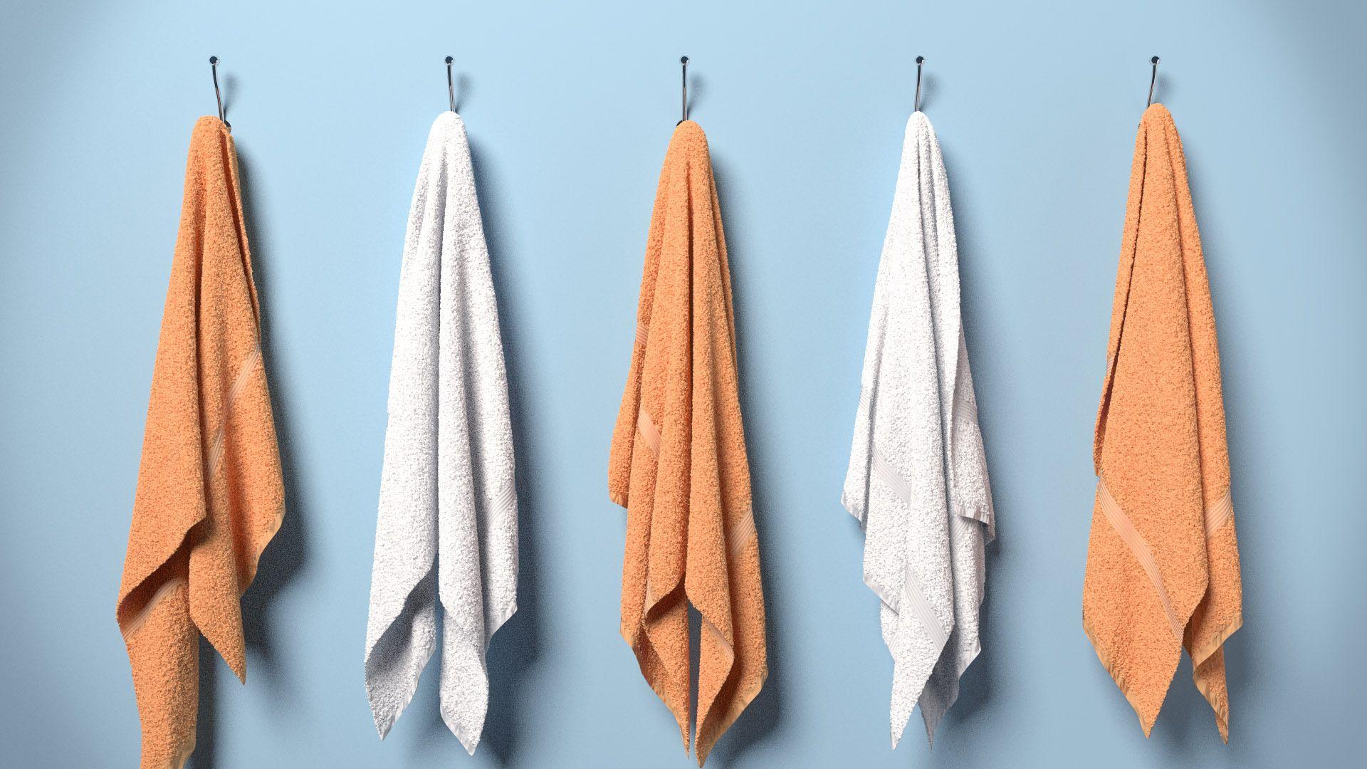 hanging towel. Blender Fabric Tutorial: How To Make Towels Hanging Towel B