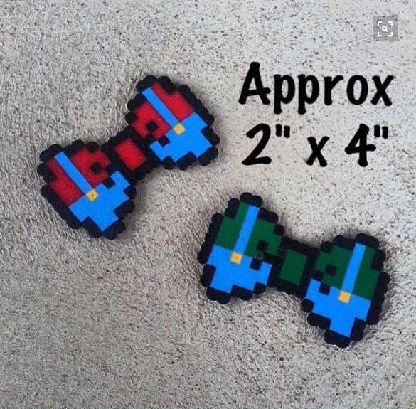 Mario & Luigi Inspired Hair Bows $5 each  #forsale #mario #gamergirl #gamer #8bit #8bitart #handmade  #supermario #supermarioworld #maperlerart #luigi #bows #hairbows #hairaccessory #handmadebows #bowsforsale #maperlerart #bit
