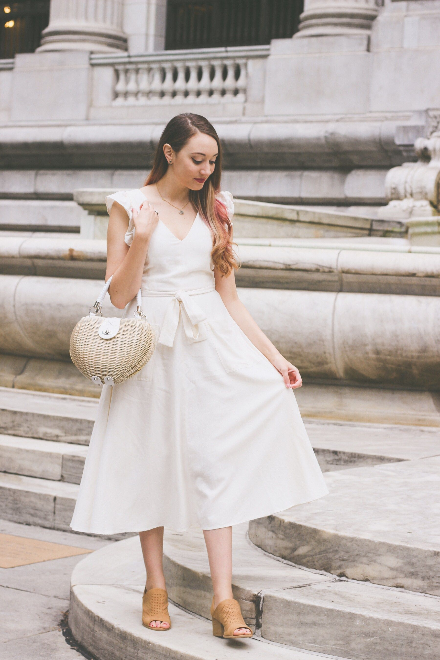 5f2e10dfd63 The Perfect Little White Dress for Spring   Summer - The Most Happy ...