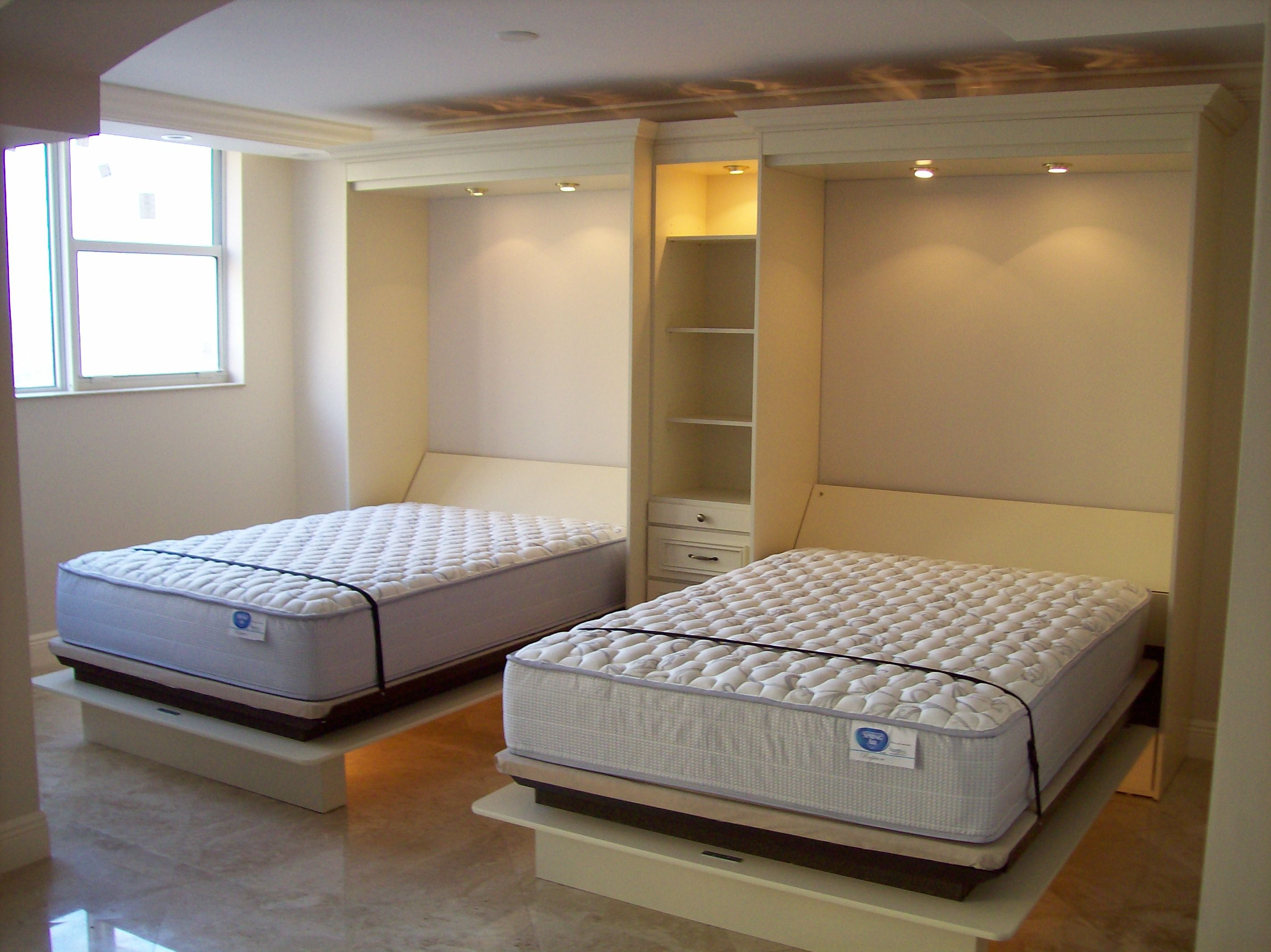 Two Full Size Beds Shown Open Full Size Bed Small Space