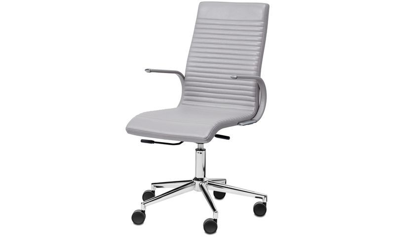 Office Chairs Ferrara Chair Grey Leather 789 Light Grey Leather Bo Concept Vancouver Online Shop Office Chair Design Office Chair Modern Office Chair
