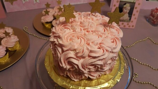 First Birthday Pink & Gold
