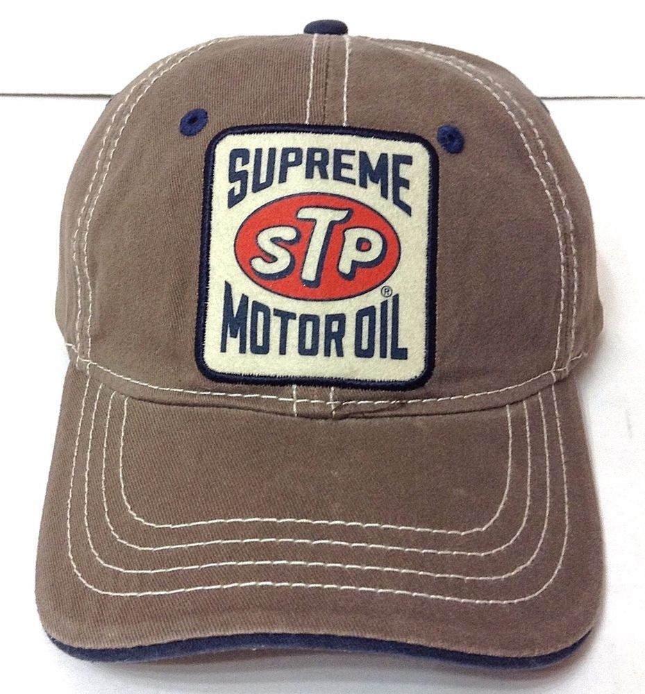 Vtg-Look SUPREME STP MOTOR OIL HAT Brown Relaxed-Fit Advertising Patch Men  050029536605