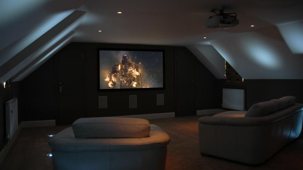 Interior Attic Home Theater The Best Spot To Get The Real Experience Of Watching Movie Attic Theater Idea At Home With Com Attic Theater Attic Spaces Home