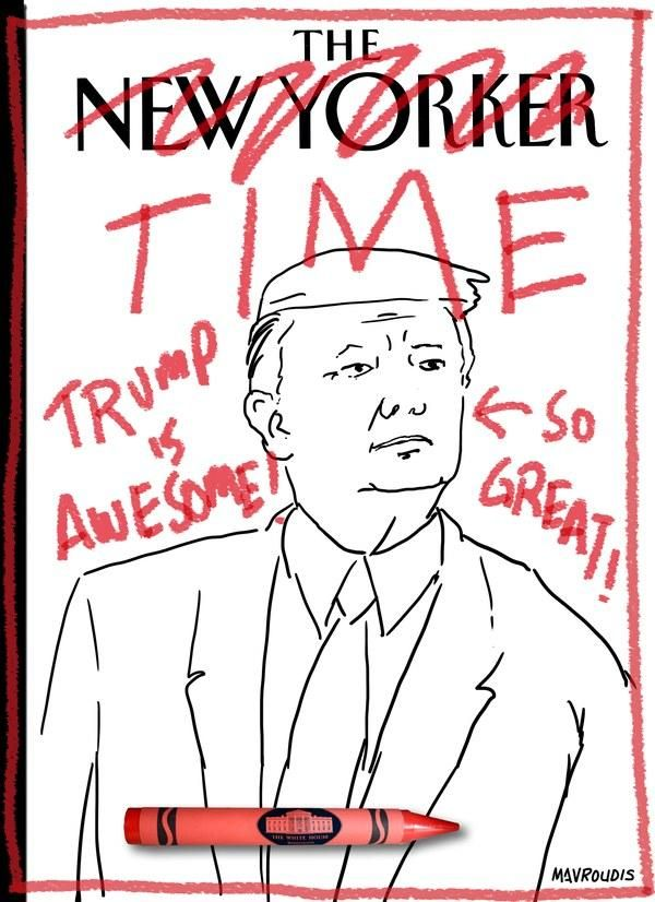 New Yorker Cartoon Trolls Trump For Fake Time Magazine Cover
