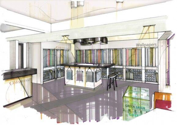 Colortrend Showroom, Dublin, / by JDDG, John Duffy Design Group