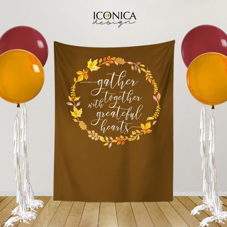 Fall Party Decorations,Thanksgiving Backdrop,Personalized Thanksgiving Dinner Decor,Thanksgiv…