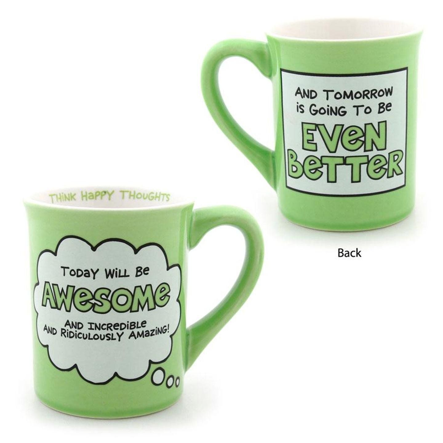 Love these mugs! Today WILL be awesome! Mugs, Cute