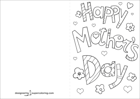 Click To See Printable Version Of Happy Mother S Day Card Coloring Page Mothers Day Card Template Mothers Day Coloring Pages Mothers Day Coloring Cards