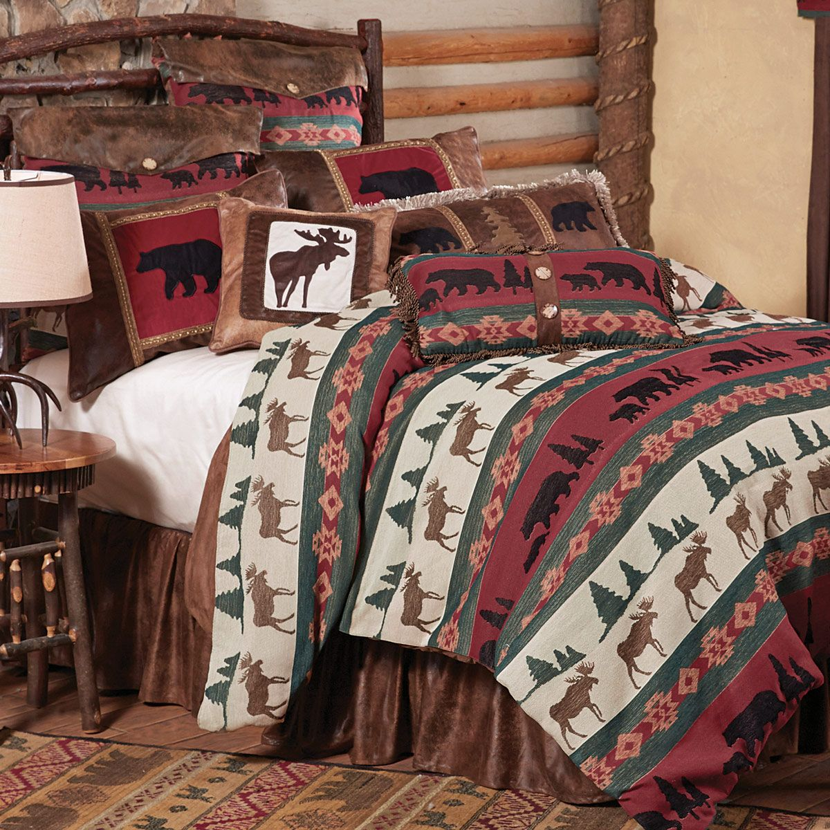 Summit Trail Moose Bear Bed Set King