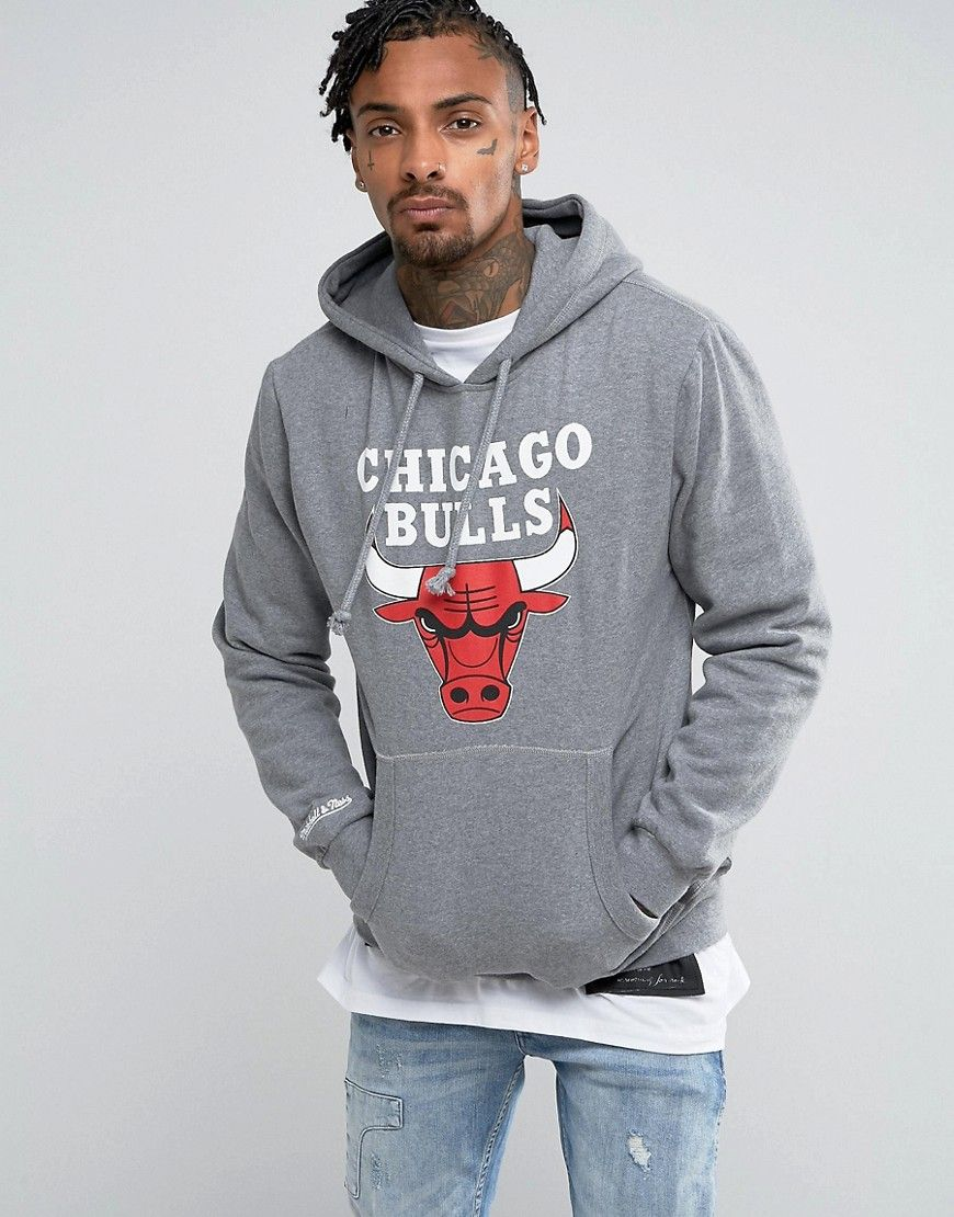 Mitchell   Ness NBA Chicago Bulls Hoodie - Gray  ea71b0f57bfa