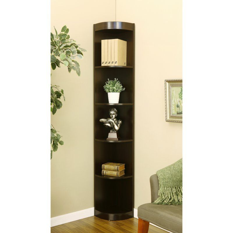 Furniture Of America Corner 5 Shelf Display Stand Bookshelf Id 10370c
