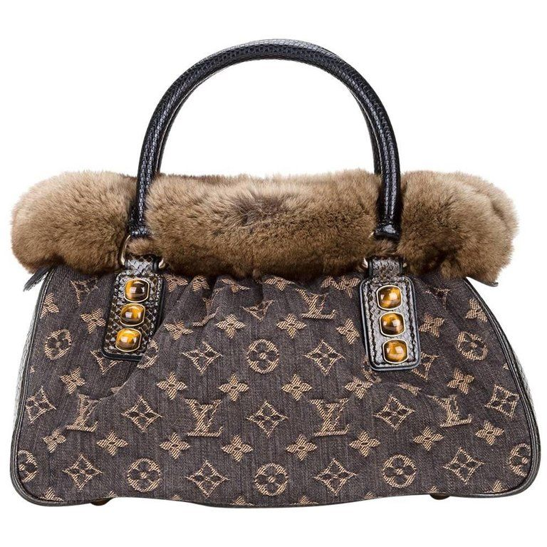 Louis Vuitton Limited Edition Monogram Fur Top Handle Satchel Bag 3Zss0QSk3z