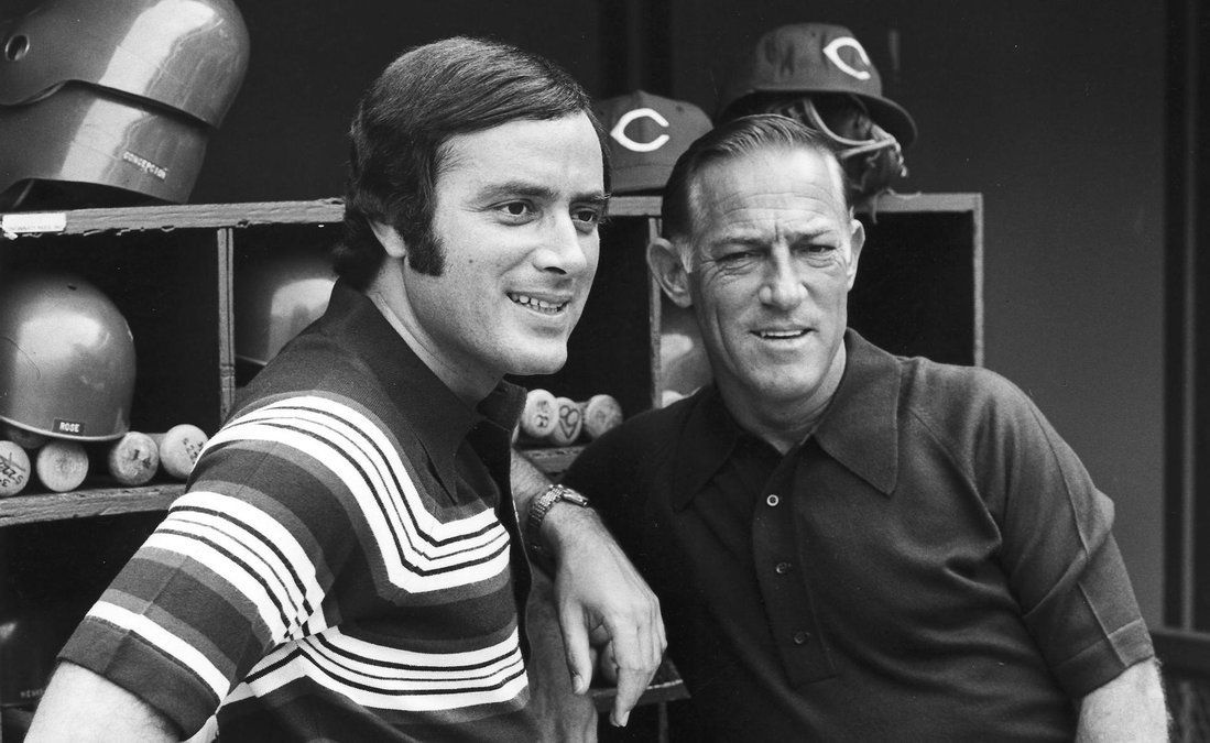 Al Michaels and Sparky Anderson Al michaels, Sparky