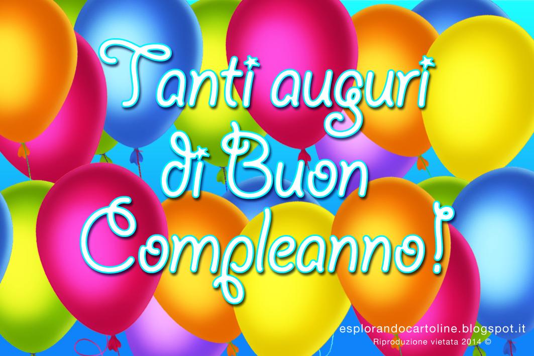 Tanti Auguri Di Buon Compleanno Con Mille E Più Palloncini Colorati