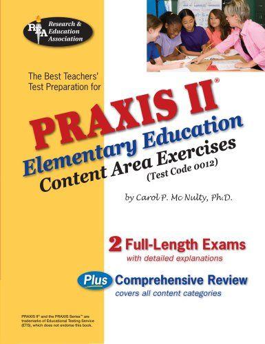 Bestseller Books Online PRAXIS II Elementary Ed: Content Area ...