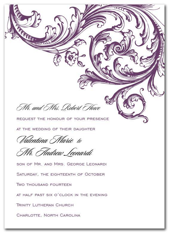 Enchanting Ella Plum - Corporate Invitations by Invitation - invitation non formal