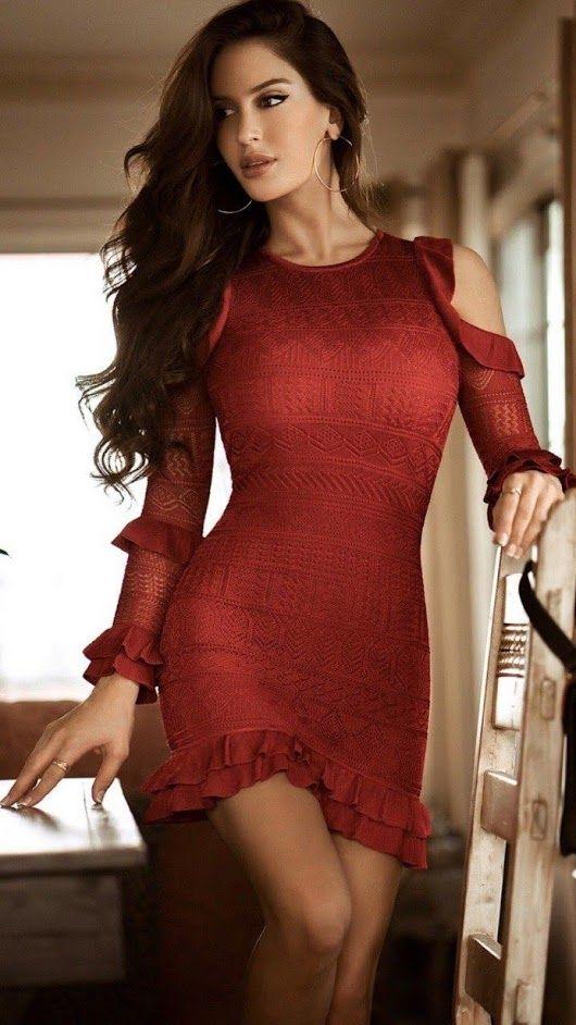 Sexy pink elegant ruffled flare sleeve, runway designer dress, mesh pa