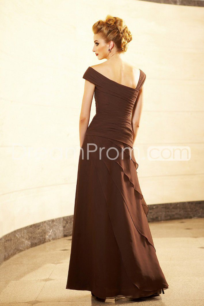 Elegant Pleats Crystal Tiered A-Line Floor-Length Mother of the Bride Dresses