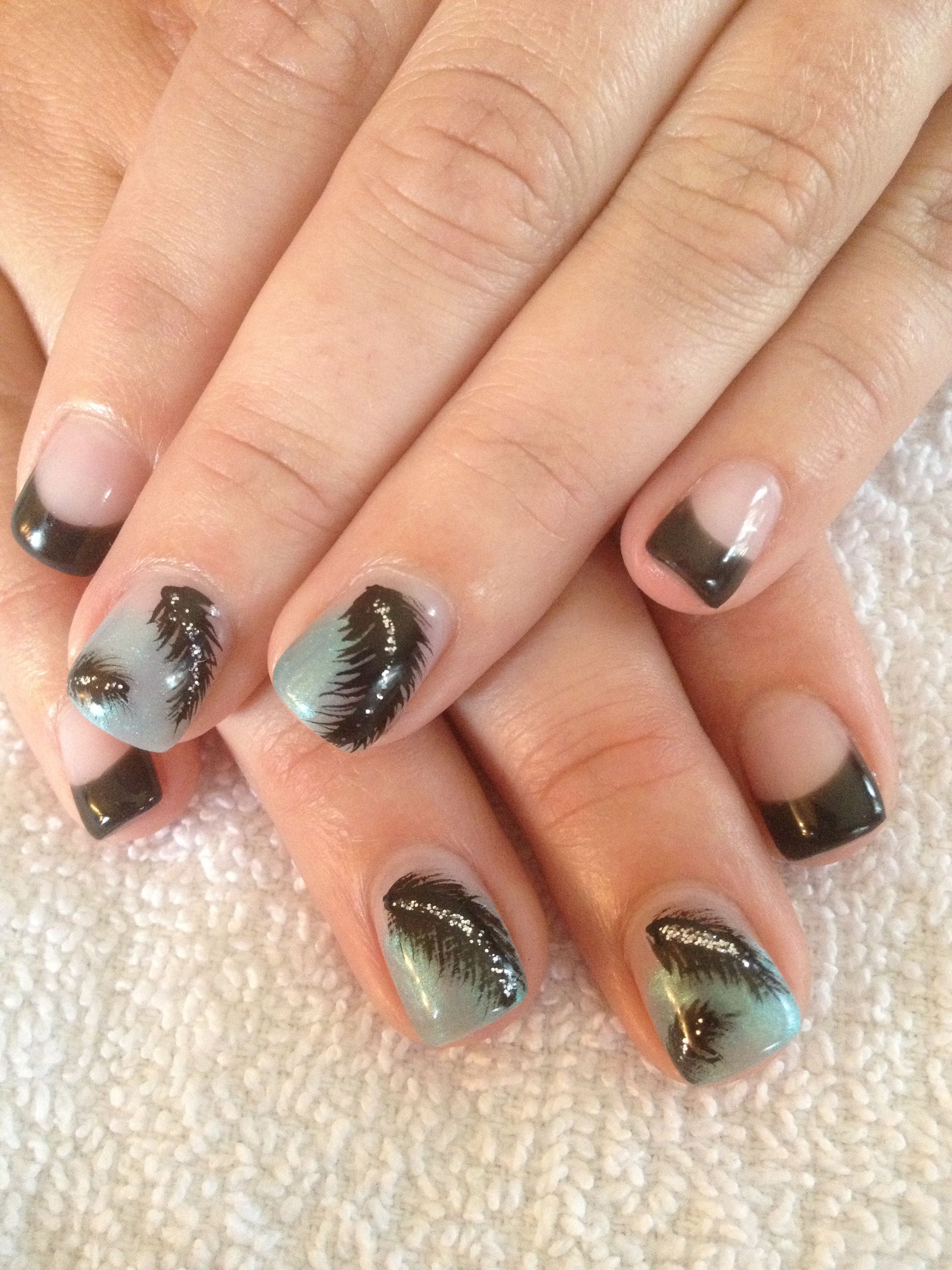 Feather fun. Gel nails | nail art | Pinterest | Nail stuff, Hair ...