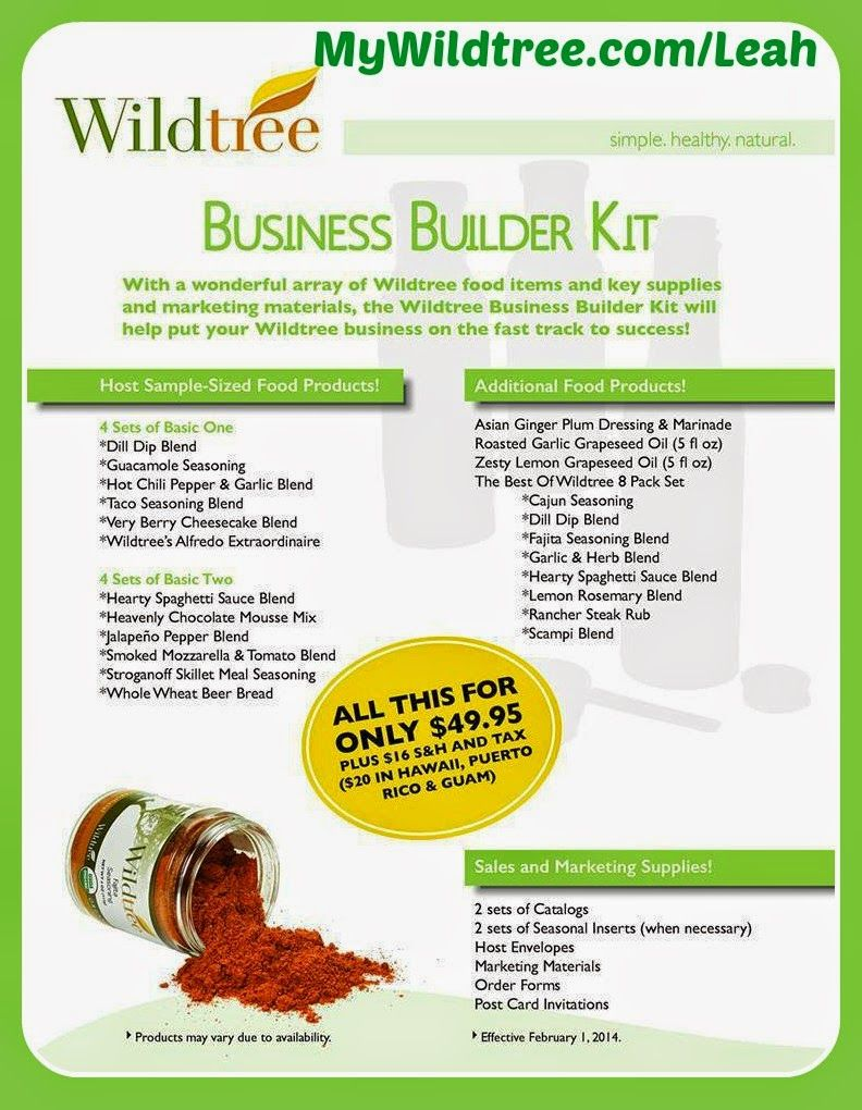 Leah\'s Cooking with Wildtree Foods: Wildtree Business Builder Kit ...
