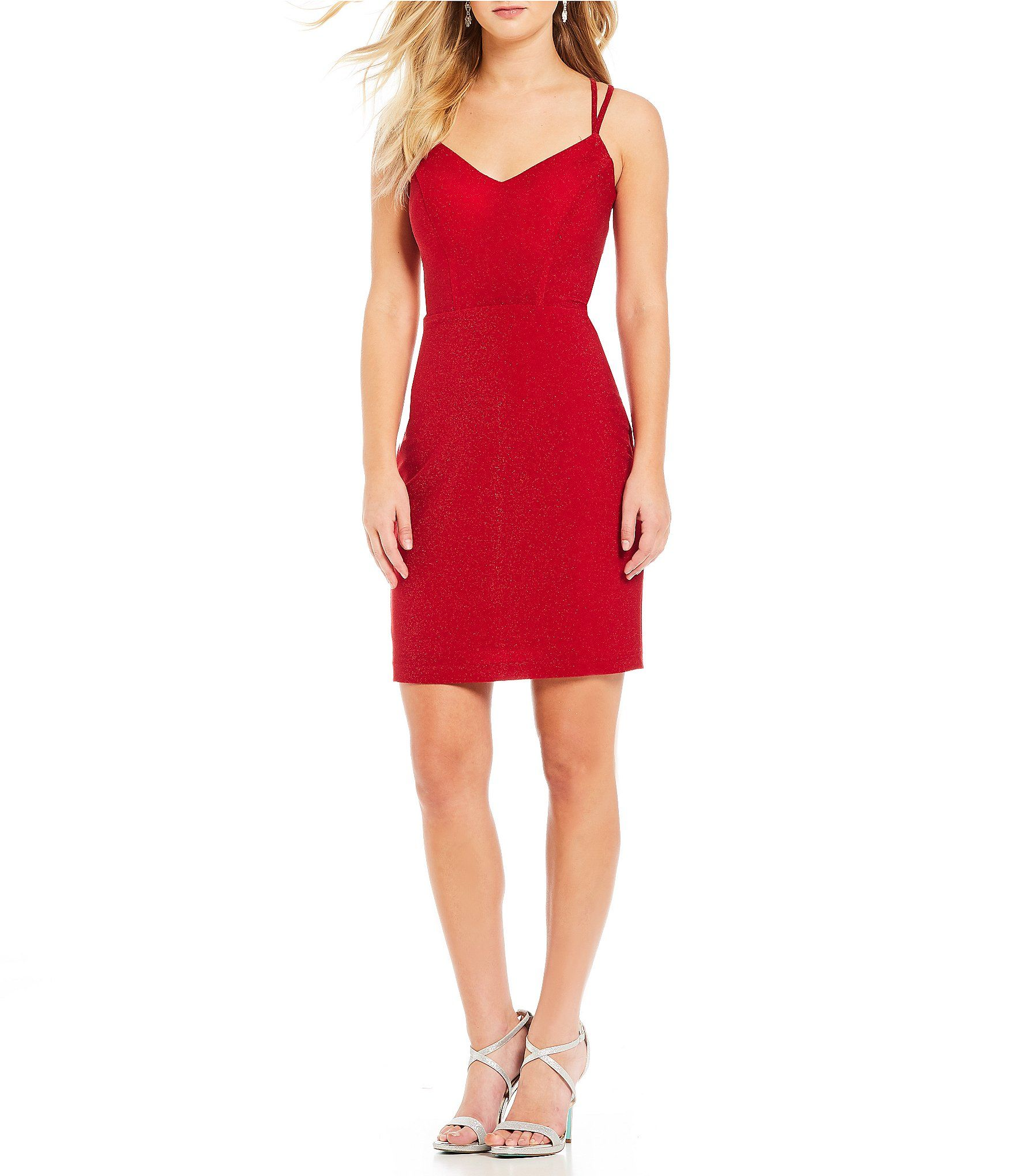 23ba1327ce4 Shop for Morgan   Co. Glitter-Knit Strappy Back Bodycon Dress at Dillards.com.  Visit Dillards.com to find clothing