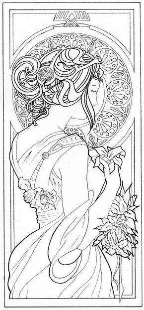 Alphonse Mucha Spring Google Zoeken Art Nouveau Pattern Mucha Art Art