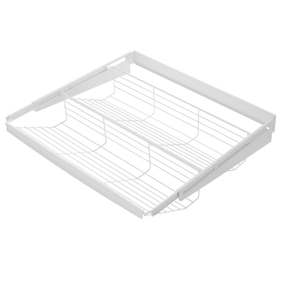 Rubbermaid Fasttrack White Wire Sliding Tiered Shelf