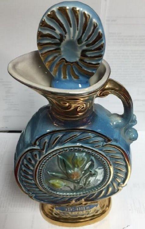 James Beam Whiskey 1 5 Gallon Decanter Empty Blue Gilded Flower Tulips From 1967 Ebay Trinital Jamesbeamwhiskey Ceramic Bottle Beams Perfume Bottles