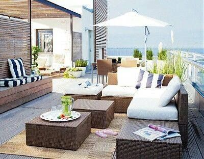 The IKEA ARHOLMA Outdoor Series U2013 Made Of Hand Woven Plastic Rattan U2013 Lets  You Combine Individual Pieces To Create Outdoor Sofas, Sectionals And  Footstools ...