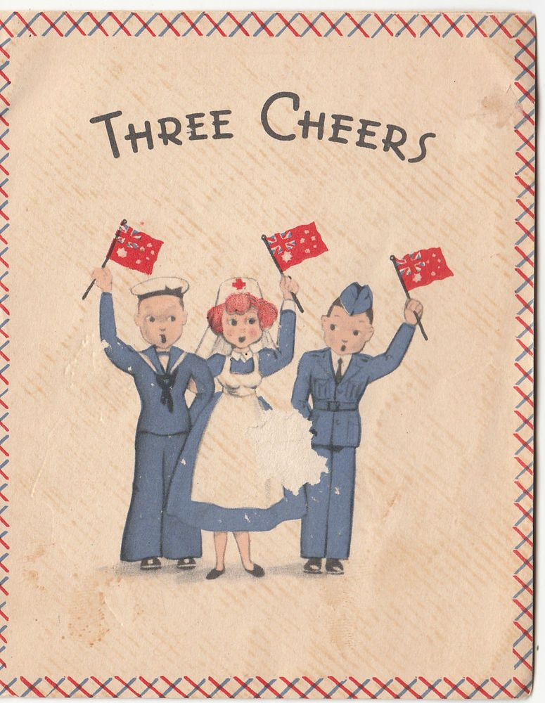 "WWII Australia ""Three Cheers"" christmas greeting.... . A"