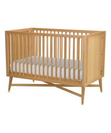 Love this Natural Mid-Century Crib on #zulily! #zulilyfinds | Kid ...