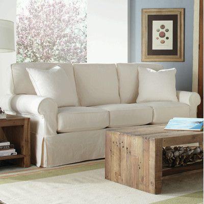 Wayfair Rowe Furniture Nantucket Slipcovered Sleeper Sofa   Ships In 6 7  Weeks ($2,000
